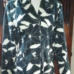 GEORGE Jackets & Coats - George flower print 3/4 length jacket, like new!